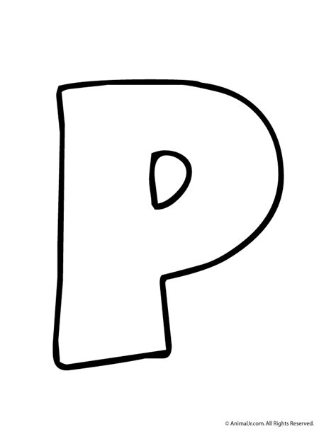 printable large bubble letters free coloring pages of bubble letter p