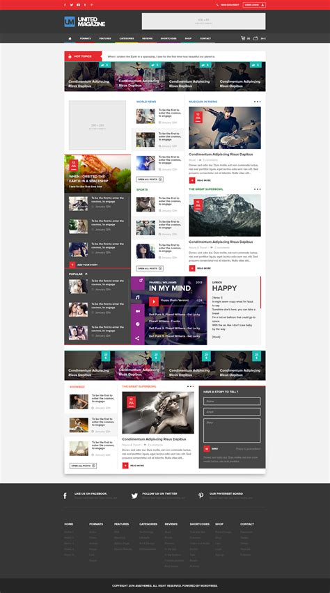 blogger themes with menu united modern responsive magazine blog theme by