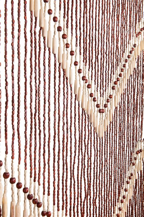 wood curtain handmade door beaded curtains 52 strands of beads hang