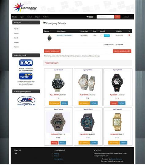 template toko online css template website toko online murah