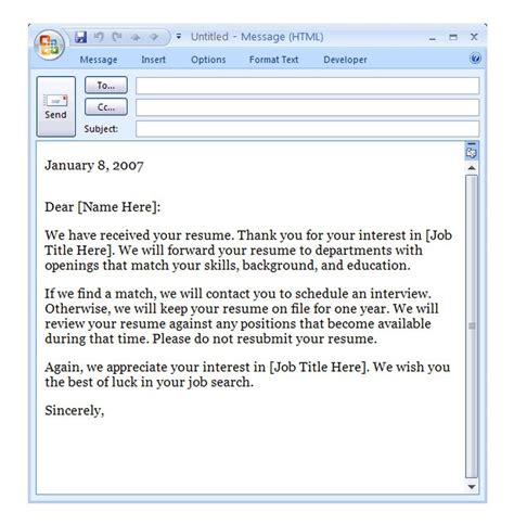 business email template exle confirmation email template