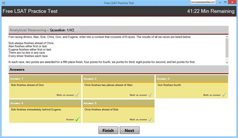 pattern games lsat free lsat practice test download