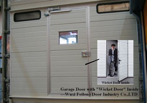 garage door with a door china automatic garage door with wicket door windows