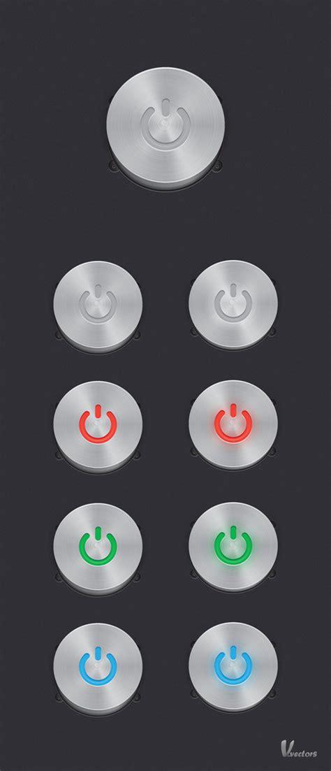 design icon button create a steel vector power button set