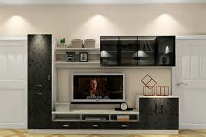 3d Minimalist Living Room With Black Tv Cabinet 3d House Tv Cabinet For Living Room