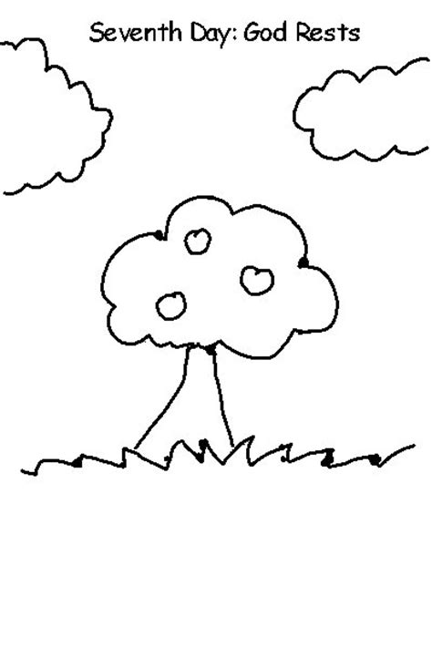 Day 7 Coloring Page by 7 Days Of Creation Coloring Coloring Pages
