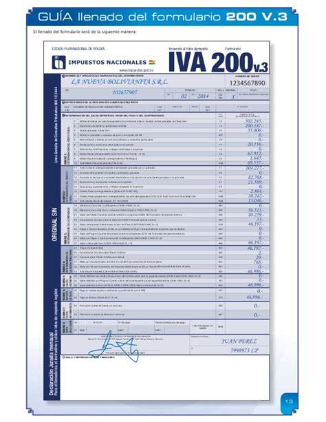 formulario 200 version resumida para descargar guia formularios 200 y 400 v 3