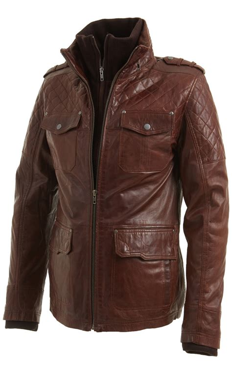 mens leather biker jacket mens brown leather motorcycle jackets coat nj