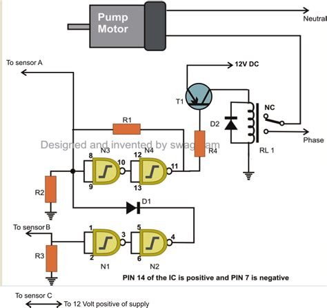 water tank level controller circuit diagram my world of electronics