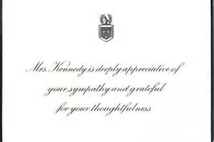 Response Letter Sympathy Jacqueline Kennedy S Response Card To Condolence Letters Abc News Australian Broadcasting