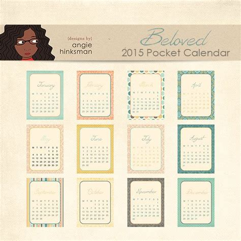 free printable pocket planner 2015 20 best images about 2015 calendar printables on pinterest