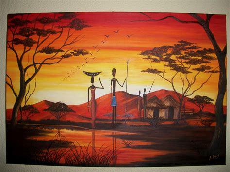 pintura a 211 leo cuadros africanos - Cuadros Africa