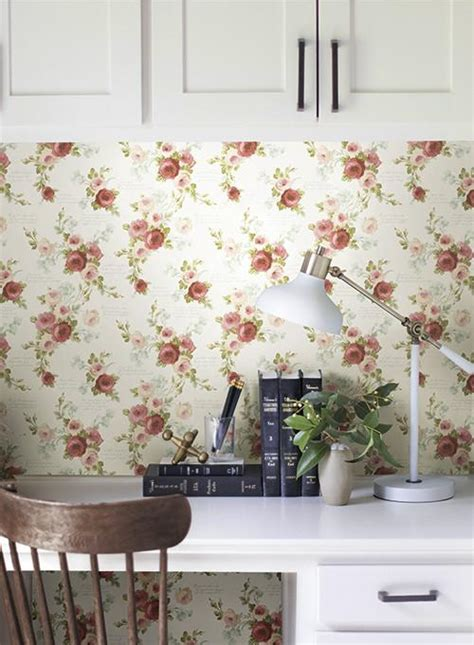 joanna gaines wallpaper heirloom rose wallpaper in red and white from the magnolia