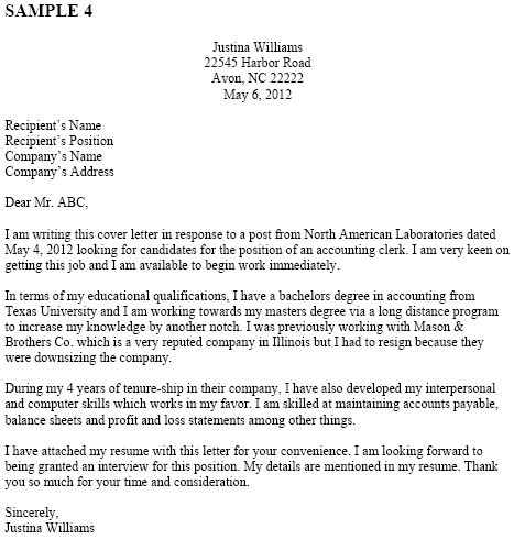 application letter for office clerk sle of application letter as a clerk printable