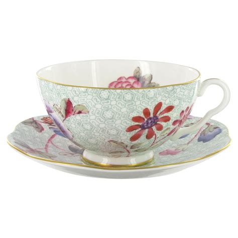 Tea Cup by Wedgwood Harlequin Collection Cuckoo Teacup And Saucer