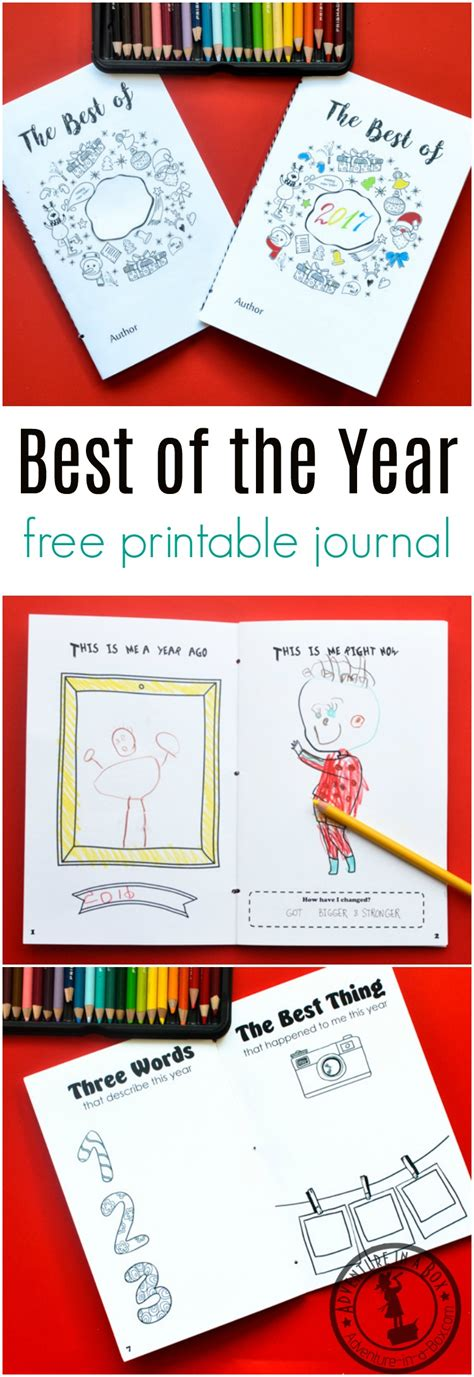 printable quiz of the year 2017 best of the year free printable journal for kids to fill