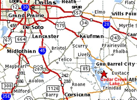 cedar creek texas map cedar creek lake map more information