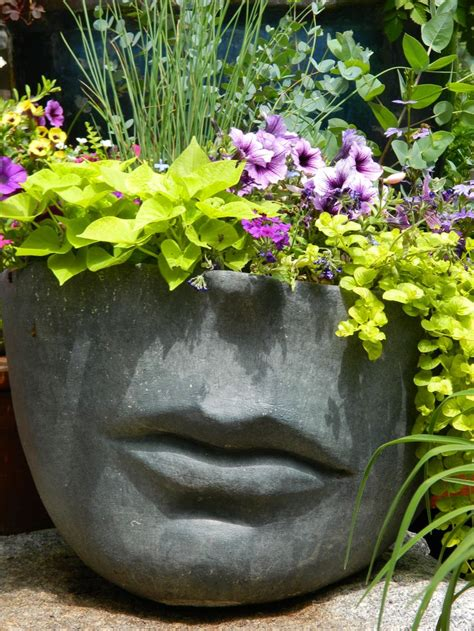 face planters let s face it planter concrete pinterest