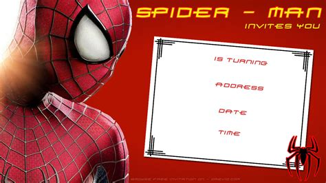 free printable blank spiderman birthday invitation