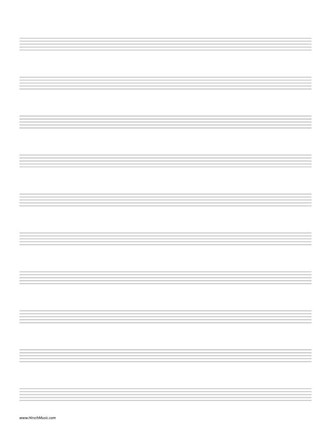 printable staff paper for drums manuscript paper hirschmusic publications
