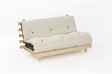 Wooden Futon Frame And Mattress Set by Comfy Living Futon Set Mattress 4ft 6in Wood