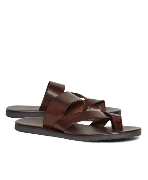 criss cross sandals brothers leather criss cross sandal in brown for