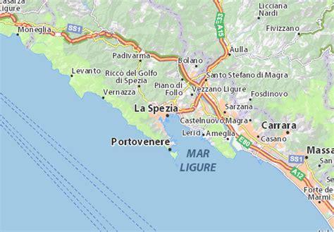d italia la spezia mappa la spezia cartina la spezia viamichelin