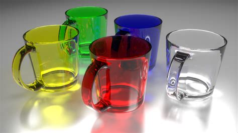 Blender Glass glass mug test in blender yafaray rosgar