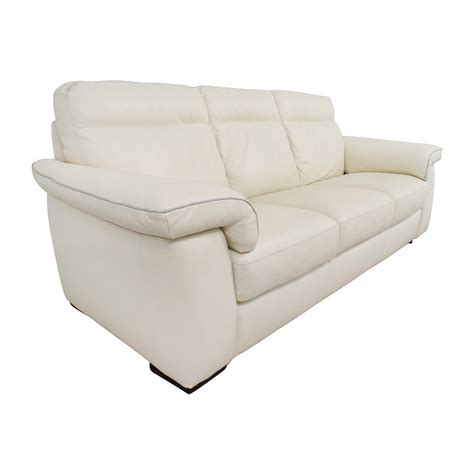 three cushion sofa 69 off white leather three cushion sofa sofas
