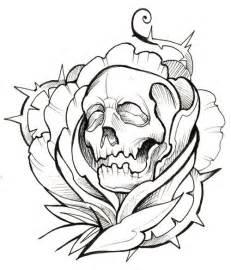 Outlines Designs by Skull Thorns Ink Outline Ideas Ink Skulls And Ink Tattoos