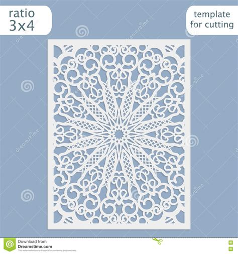 templates for cards lace tree cards laser cut wedding invitation card template vector cut out