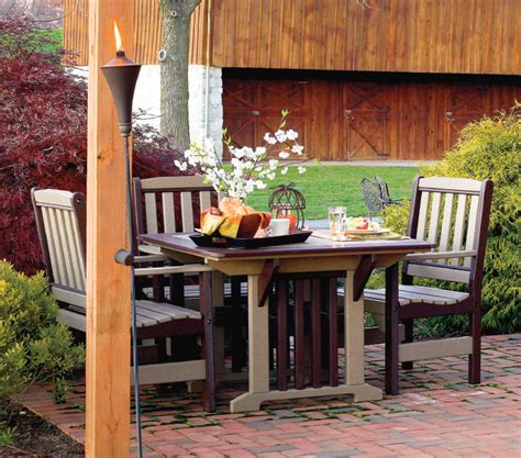 poly patio furniture amish poly patio furniture dining set from dutchcrafters amish