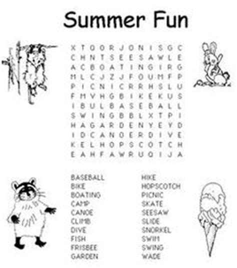 Search Uk Free Sweet Summer Time On Word Search Water Balloon And Coloring Pages