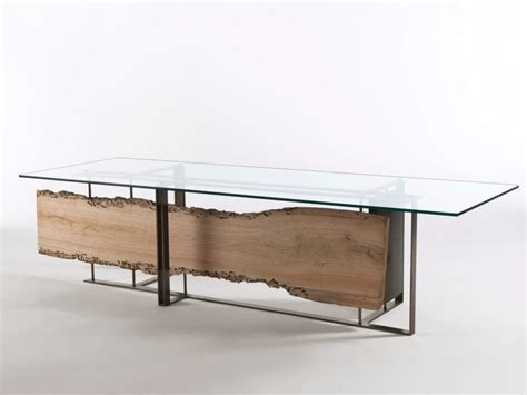 cornici vetro tavolo rettangolare in legno e vetro cornice by riva 1920