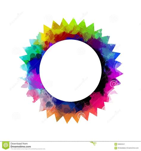 colorful round wallpaper colorful round frame stock vector illustration of
