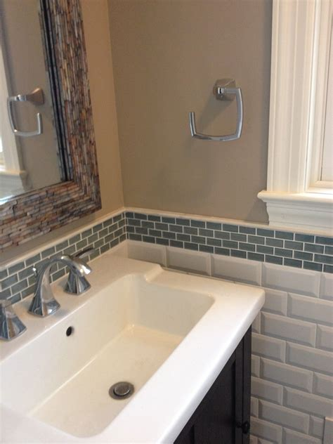 backsplash ideas for bathrooms glass tile backsplash in bathroom 4029