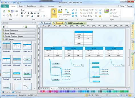 project diagram software work breakdown structure software