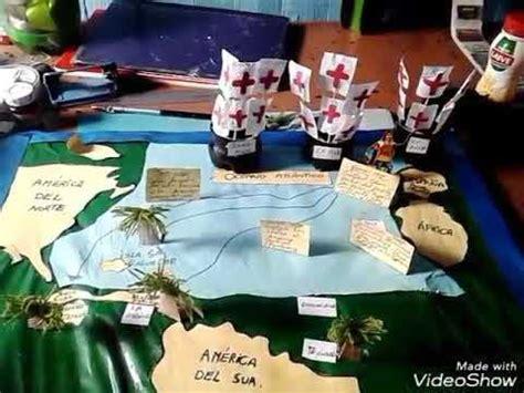 como hacer los tres barcos de cristobal colon maqueta de los 4 viajes de colon youtube