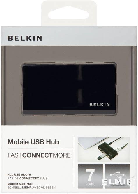 belkin mobile usb hub концентратор usb2 0 belkin usb mobile hub 7 портов black
