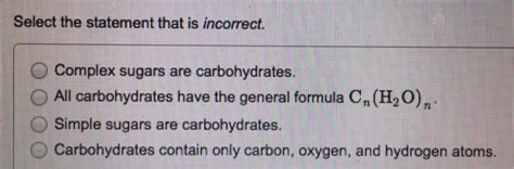 carbohydrates sentence complete the following sentences carbonyls in car