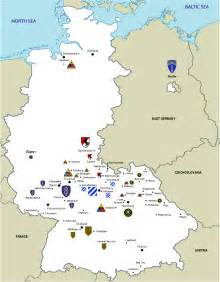 army bases map list of united states army installations in germany