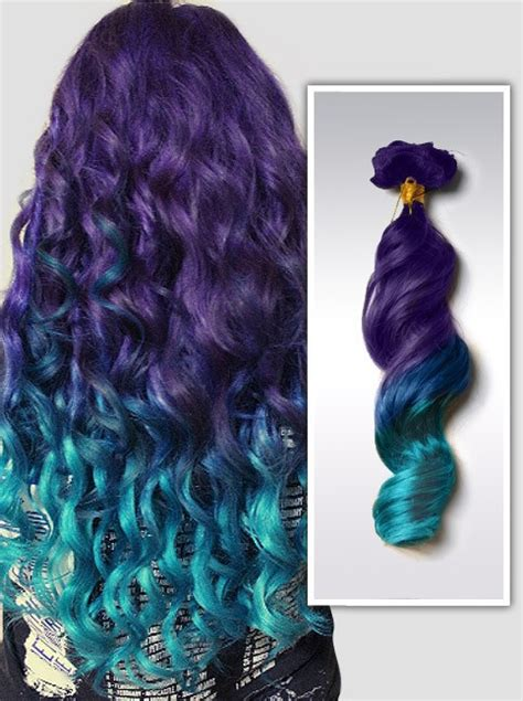 color extensions mermaid dip dye ombre indian remy clip in human hair