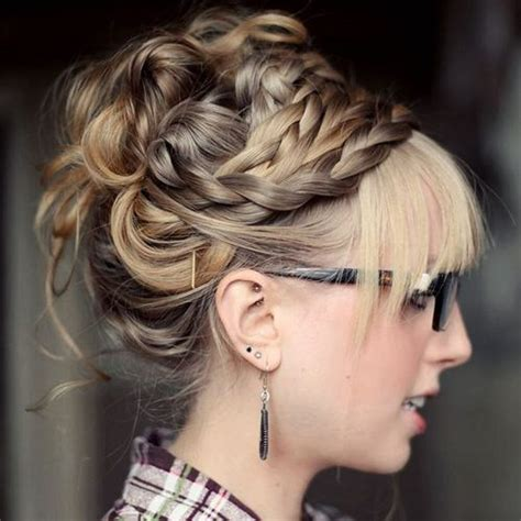 Homecoming Hairstyles For Hair With Bangs by 40 Most Delightful Prom Updos For Hair In 2018
