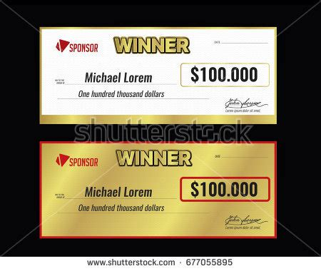 Prize Money Check Stock Images Royalty Free Images Vectors Shutterstock Award Check Template