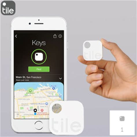 Tile Locator Single Pack Tile Bluetooth Tracker Device Single Pack