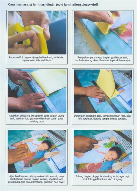 Kertas Laminating Mitra Print Stiker Laminating Dingin Pelindung Kertas