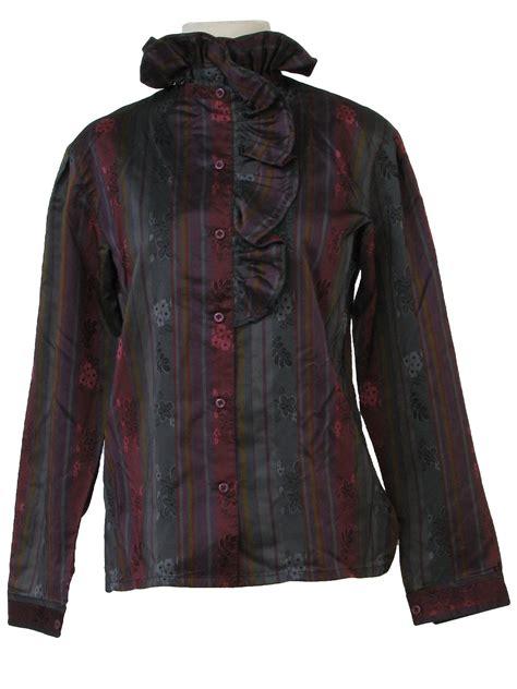 Instan Ruffle Non Pad retro eighties shirt 80s no label womens teal pink