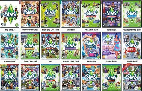 the sims 3 hairstyles and their expansion pack the sims 3 all expansion packs the sims pinterest
