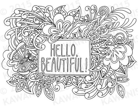 coloring pages wall art hello beautiful adult coloring page gift wall art