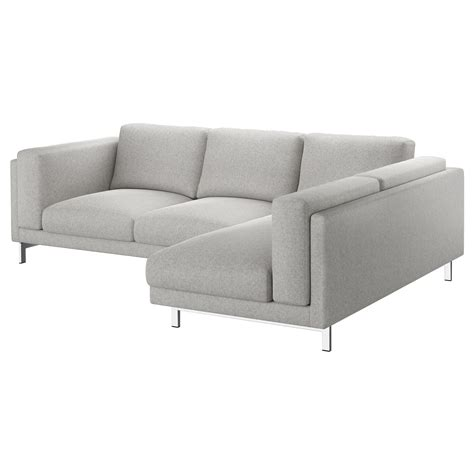 nockeby two seat sofa w chaise longue right tallmyra white